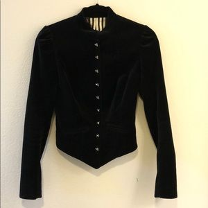 Betsey Johnson Velvet Black Jacket